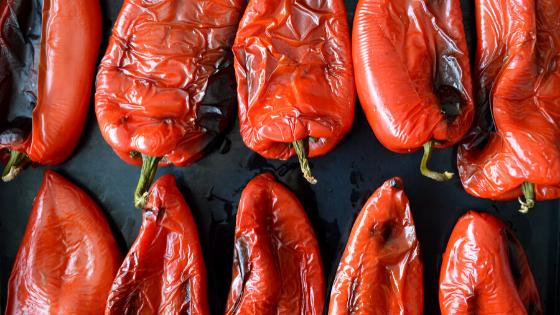 poivrons rouge grillés four