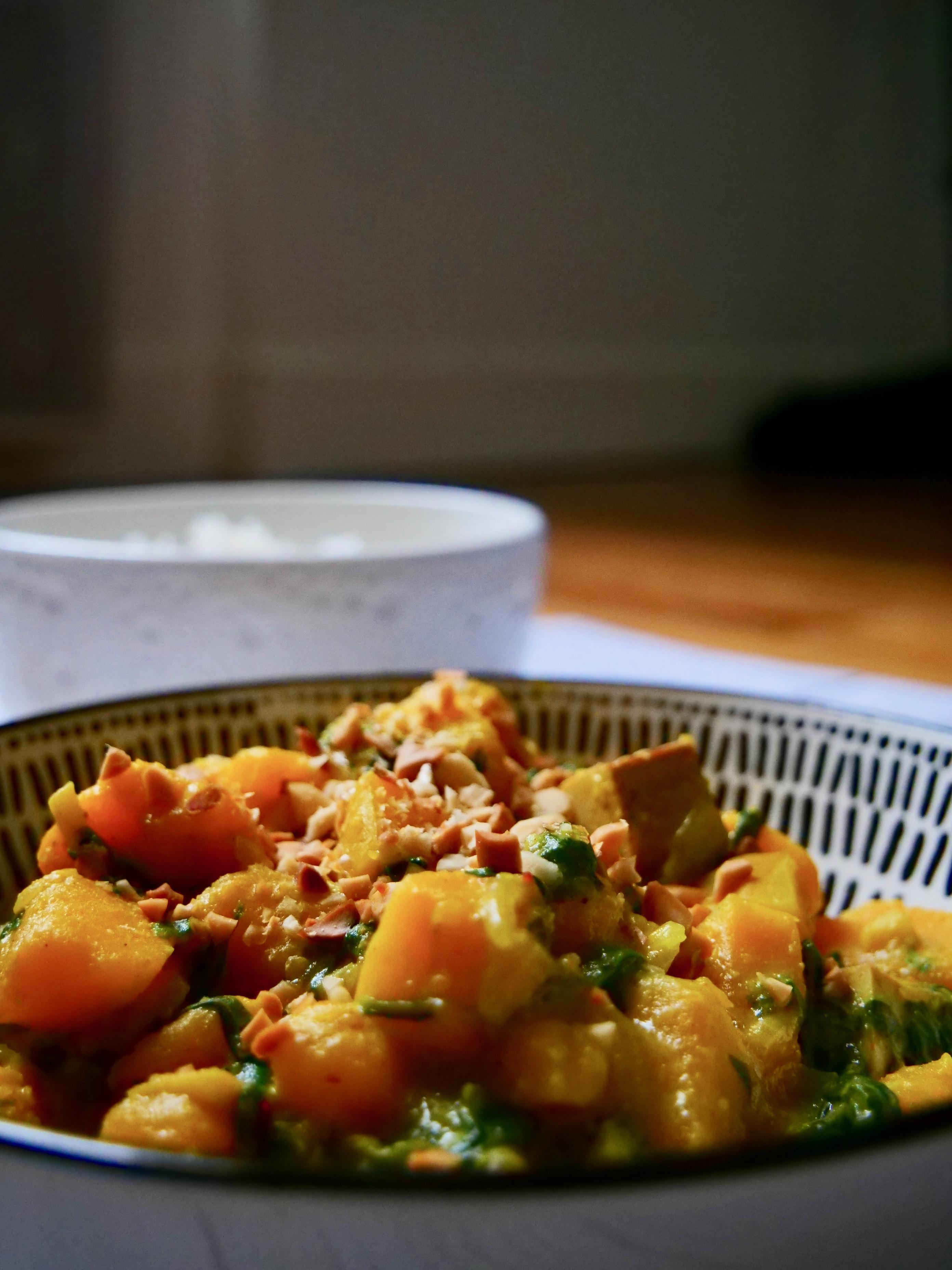 Dahl de curry et de butternut