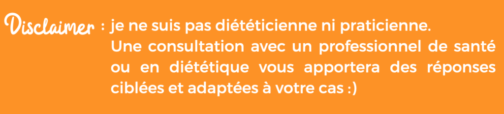 Groupes d'aliments : Disclaimer